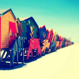 chaos beach vibrant colorful summertime