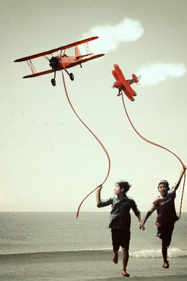 #picsart #putaplaneonit #madewithpicsart #planes #kites #childreen #boy #freedom #socialmassage #sea #air #illustration  #retro