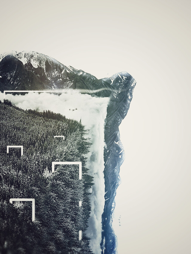 For @natii_13 #freetoedit #surreal #landscape #lines #corners #abstract #minimal #hills #mountains #trees #