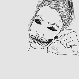 interesting art drawing freetoedit demon