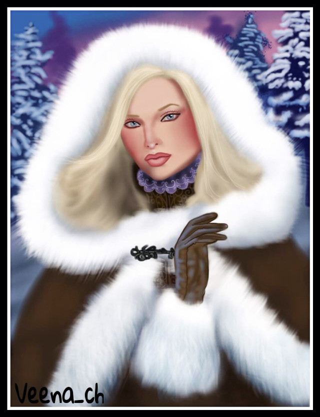 #drawing #mydrawing #art #digitalart #digitaldrawing #girl #portrait #snow #winter