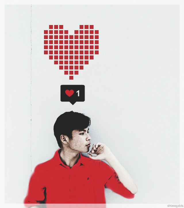 Hiiiii my lovely PA friends 💜 💜 💜 Happy new week and also HAPPY NEW YEAR TO CHINESE ♥♥♥🎊🎊 #freetoedit pic dear @toanhuynh2610  #red #edited  #people  #boy #heart