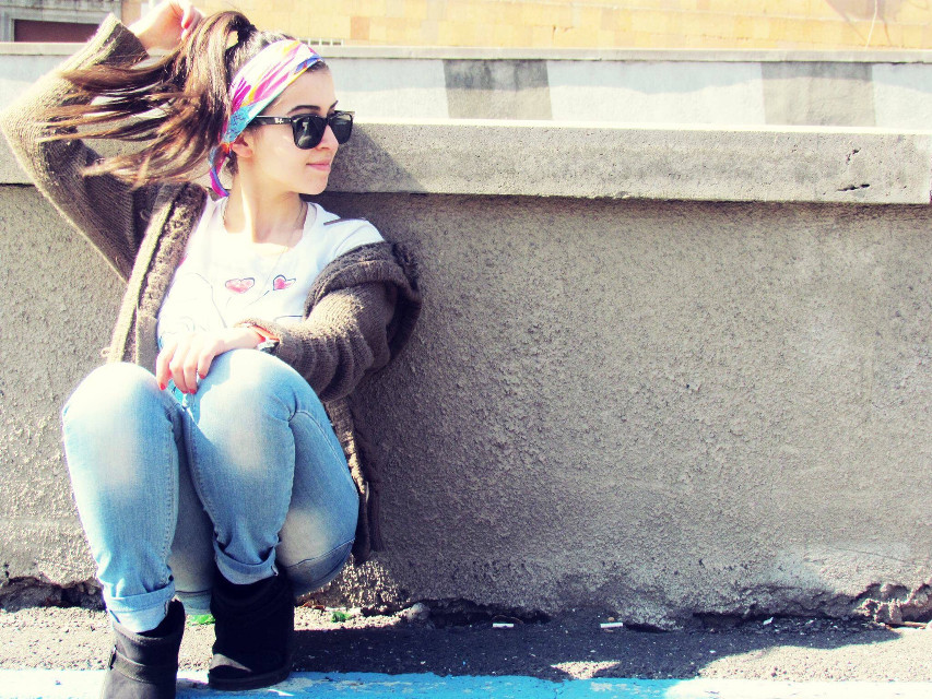 #tbt #interesting #girl #colorful  #hair #hairsplash #city #street #streetstyle  #happy #miss #summer #spring