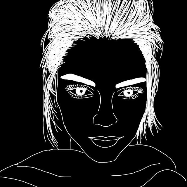 I will kill you. #draw #drawing #sketch #digitalart #illustration #portrait #kendall #jenner #kendaljenner #people #girl #girls #blackandwhite #model #horror #freetoedit  @freetoedit  @pa