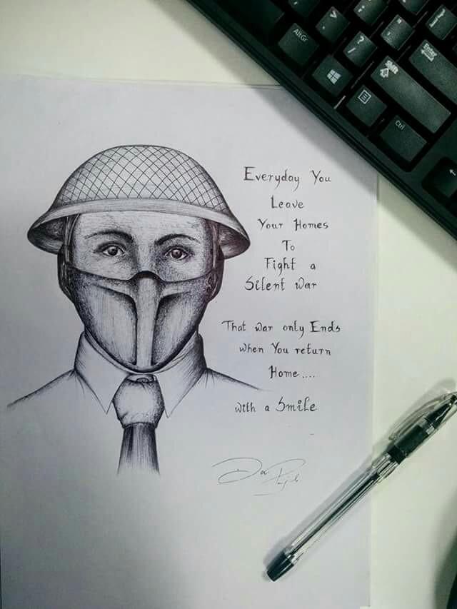 At work artwork! ;) #drawing #blackandwhite #pen #quotesandsayings #people
