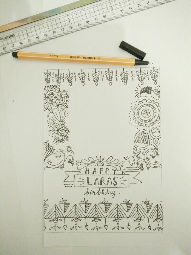 Happy birthday to Laras, hopefully she loves it :) . I make this doodle all night long..  More photos on my instagram @selavania . . . . #doodles #art #handmade