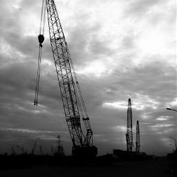 port loading crane bw batam