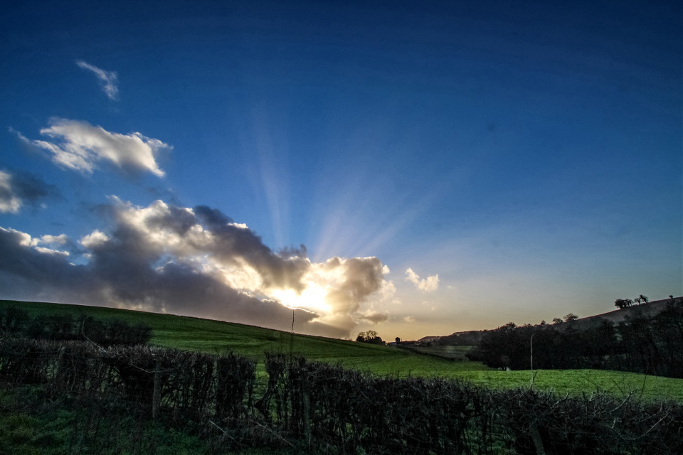 #rays of light create endlessly changing horizons that can make the same path so different... #nature #fields #somersetengland