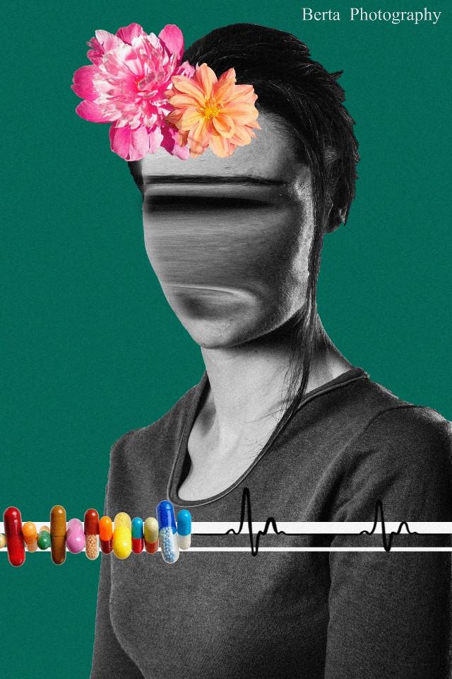 #colorful #collage  #photography #bertaphotography #flowers #hide #acid #life #portrait  #face #black&white