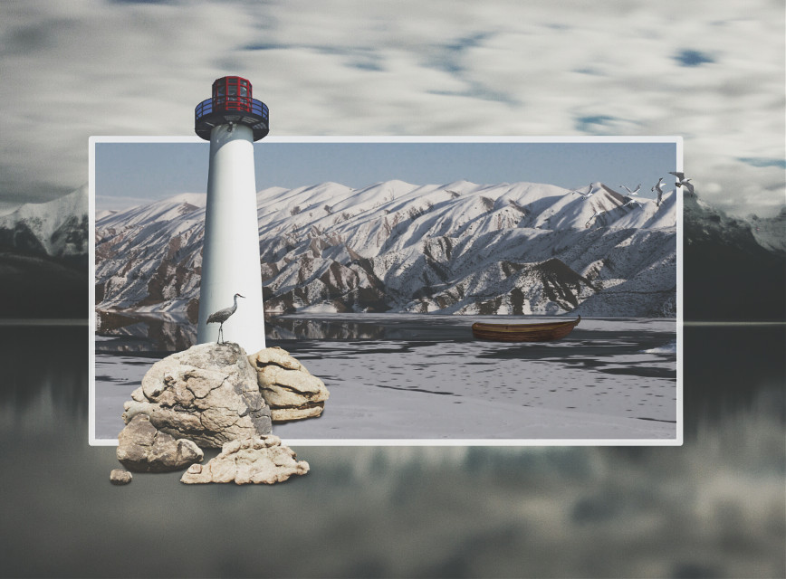My love and passion for lighthouses!! #Surrealistgate #paphotochallenge #edited #colors #lighthouse #nature #mountains