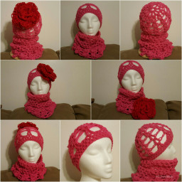springcolors springcollections crochet beanie cowl