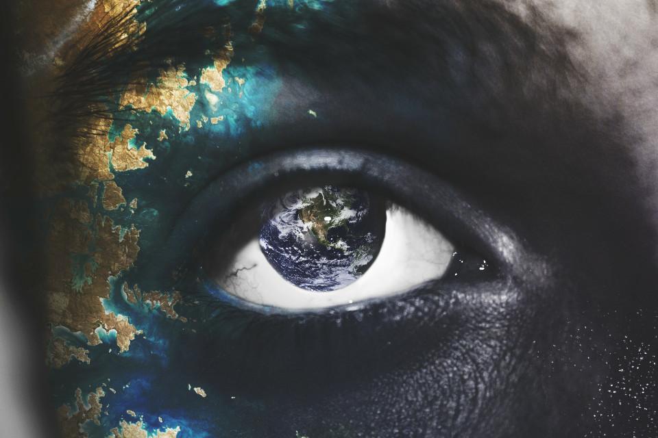 Explore the world. 🌍  #nature #me #doubleexposure #eye #earth #blue #drama op: unsplash.com