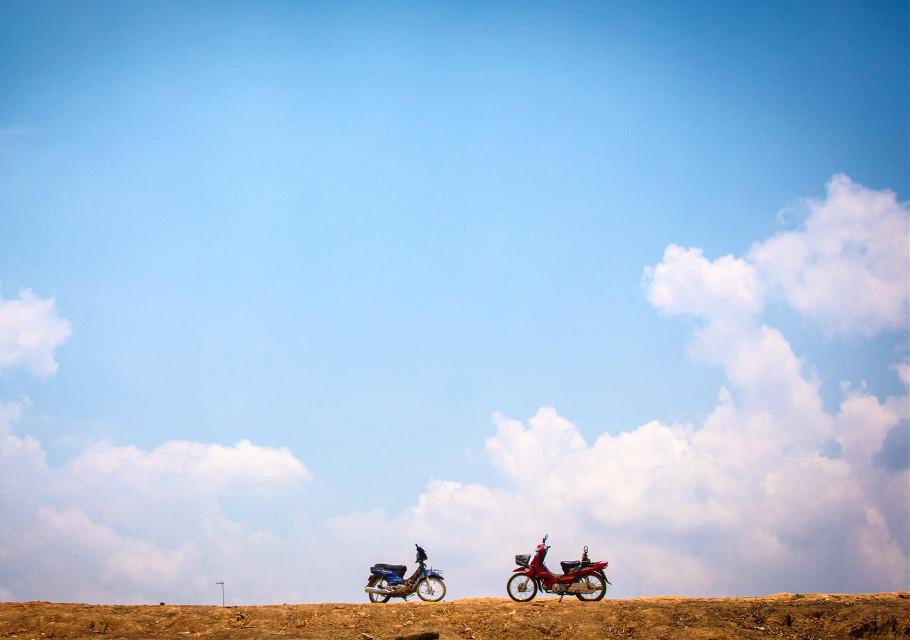 #sky #clouds #motorbike #cambodia #travel #photography        #FreeToEdit