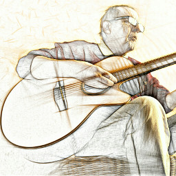 photography draw my guitare