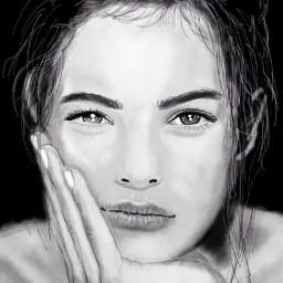 wdpwomenportraits drawing digitalart portrait looks