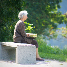 woman waiting silence alone time