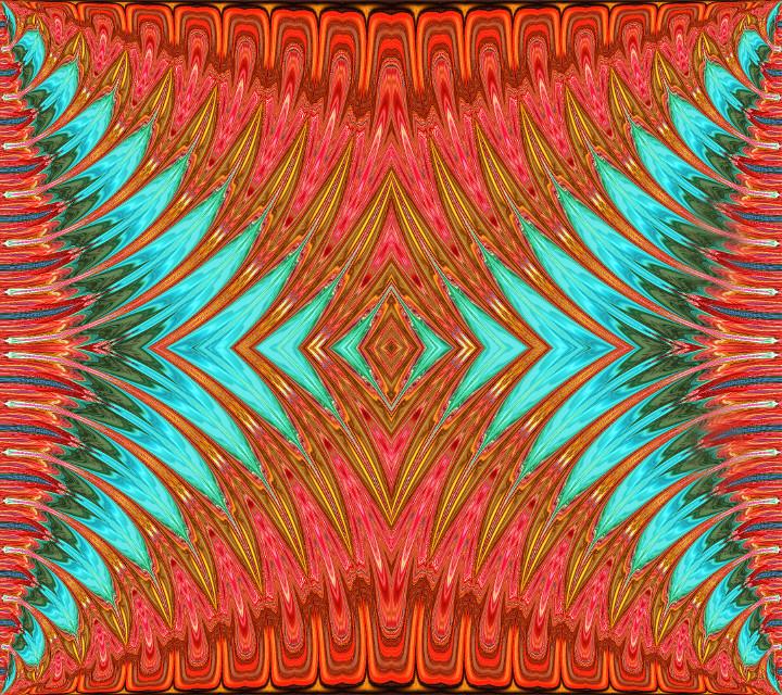 #patterns #geometric #mirrormania #turquoise #pink #madewithpicsart #art #myart