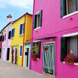 burano italy venezia travel colors freetoedit