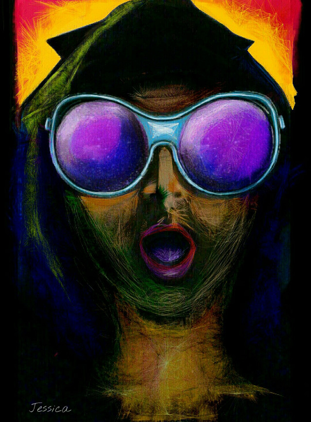 Thought of re-sharing my old Android painting #wapinmyshades #dailyinspiration #getgoofy...To friends who haven't seen this before, Enjoy!!! #art #painting #draw #drawing #createdbyme #createdwithandroid