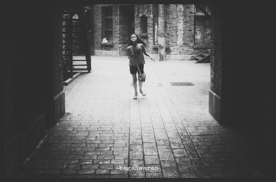 The Runaway  #emotions #mono #kids #photography