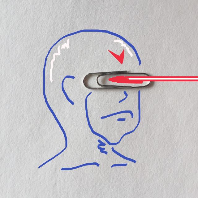 Clipman is firing a laser beam... #art #creative #imagination #draw #clip