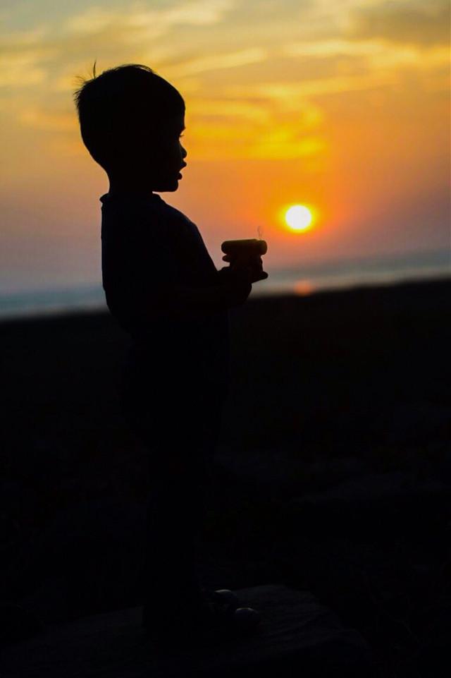#freetoedit #baby #sunset