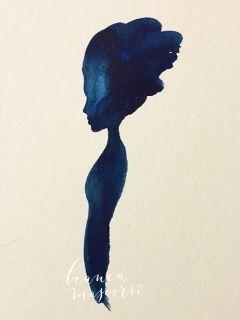 watercolor profile