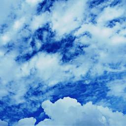 clouds blue vibrant crisp