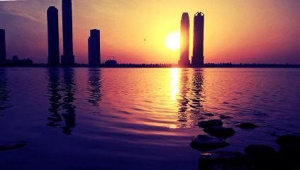 beach water beautiful sunset sun