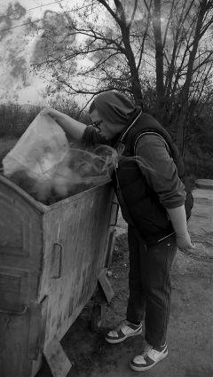 people photography blackandwhite smoke freetoedit