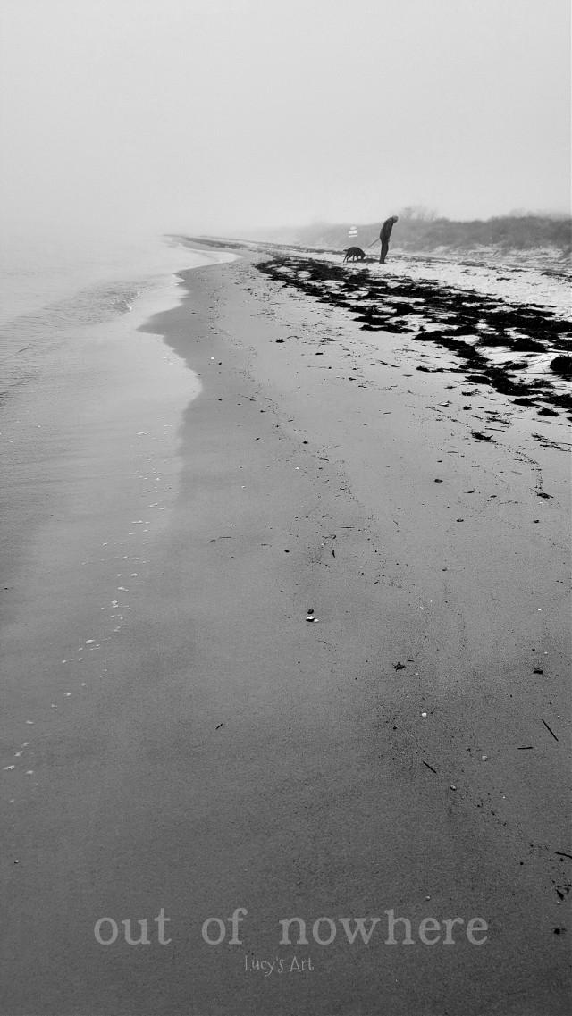 #beach #bythesea #b&w #emotions #fog #foggyday  #sweden
