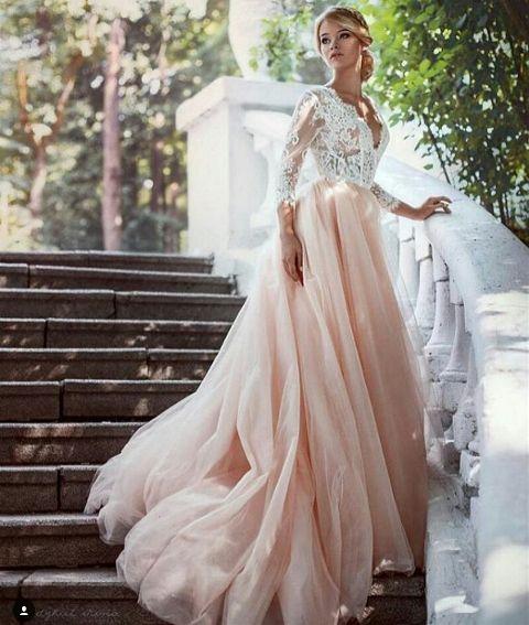 Платье пудрового цвета самое дорогое платье в мире