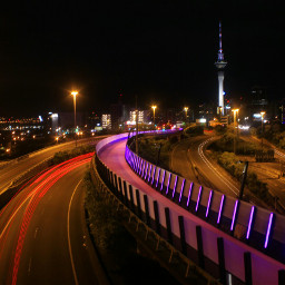 auckland aucklandcbd citylights pinkcycleway nightphotography