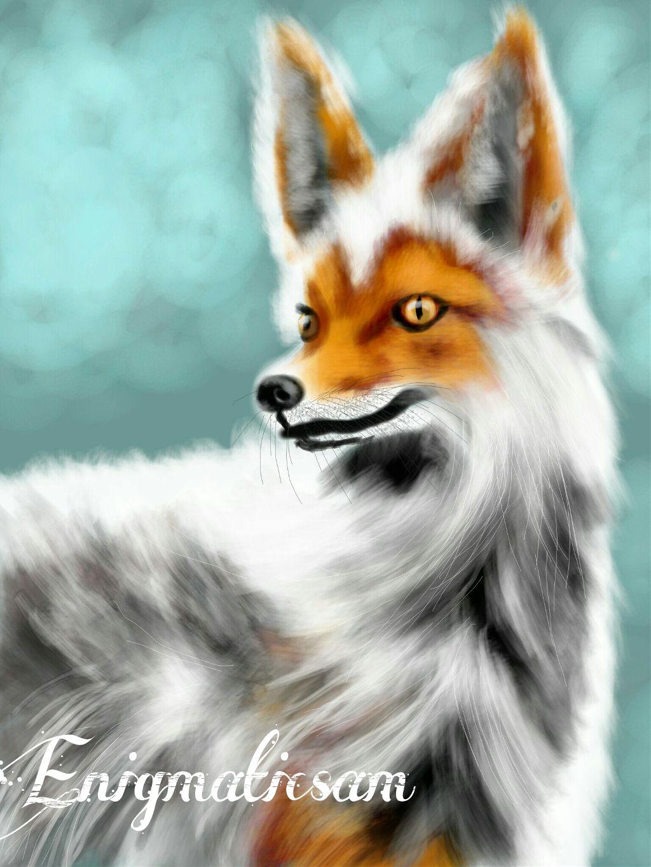 Majestic fox   #WDPzooanimals   #contest   #drawing   #petsandanimals   #nature   #eyes  #emotions   #face   #portrait   #animal   #interesting   #digitaldrawing   #orange   #white   #grey  #yellow   #blue  #cute   #winter