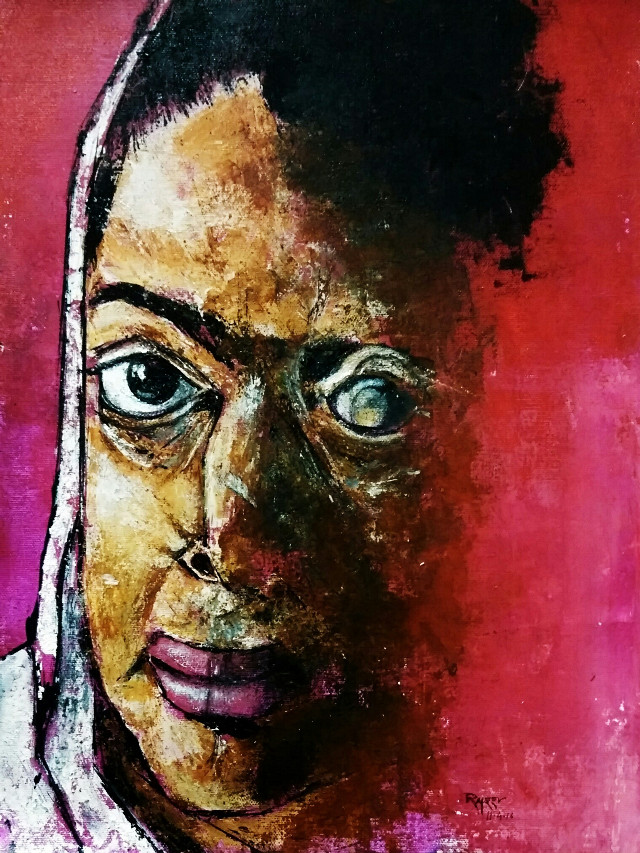 """Victimized...... Acid attack Acrylic on canvas 12"""" 16""""  #colorful #colorsplash #cute #cute #emotions #love #nature #pencilart #oldphoto #art#artist#face#girl#acid#attack#victimazation#abstract#modern#brutal#bravery#canvas#acrylic#thoughtful"""