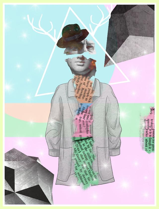 #picsart #edited #ootd #sculpture #collage #geometric #pasteltones