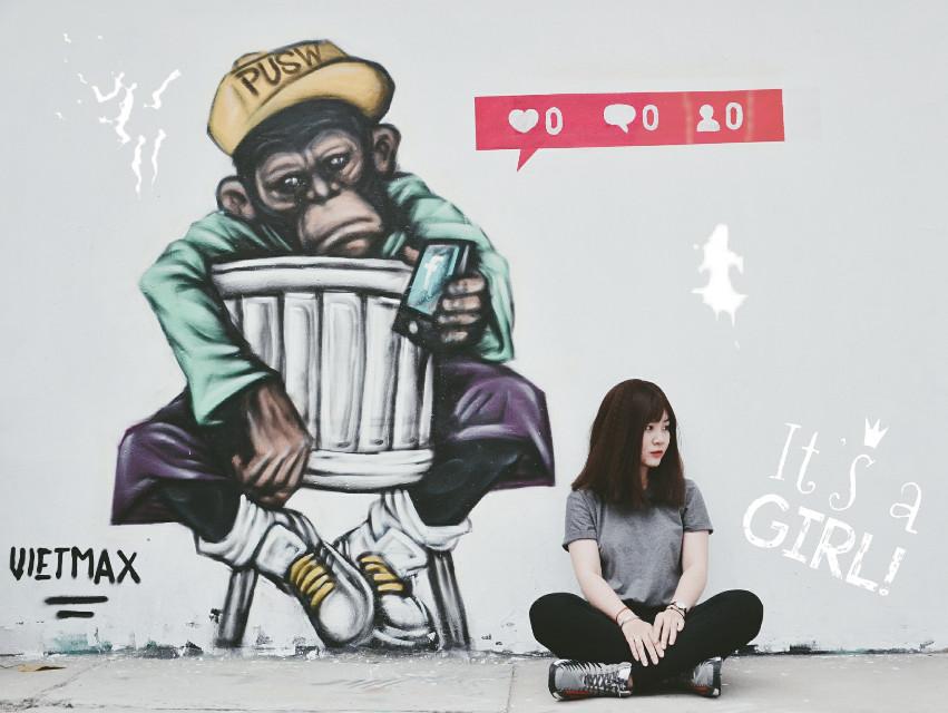 #me #monkey #colorful #ootd #bypicsart #followme