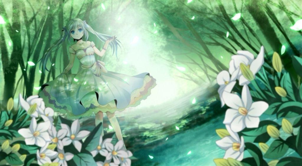 gd morning everybody!~ anime girl flowers nature innoce