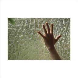 hands window cold light sun