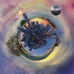 art tinyplanet globe circular panorama