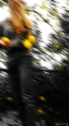 inmotion yellow lemons colorsplash blackandwhite