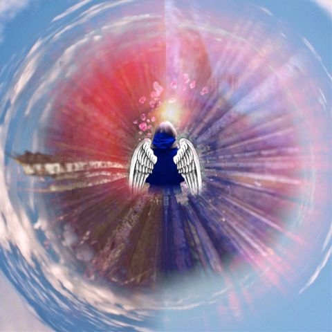fteearthday earth angel heart freetoedit