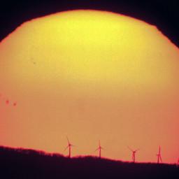 sunset sun sunspots windrose meade