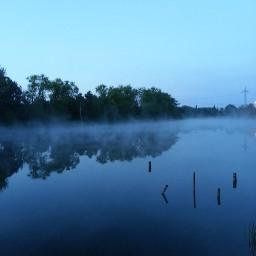 lightmask river blue mist silence