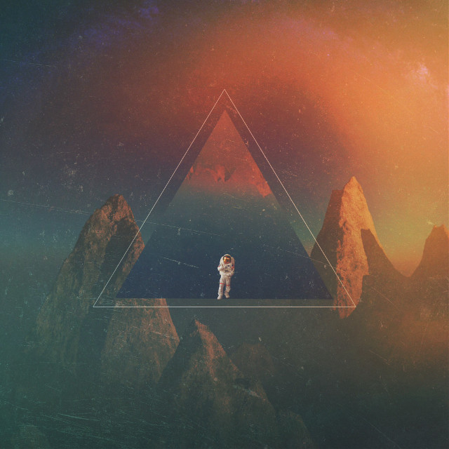 Astronaut        Op: unsplash      #triangles #triangle #art #madewithpicsart #myedit