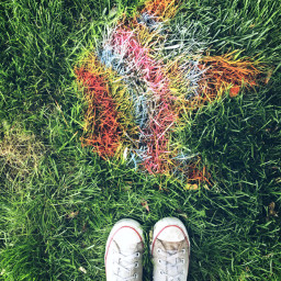 grass rainbow spraypaint shoes shoeselfie