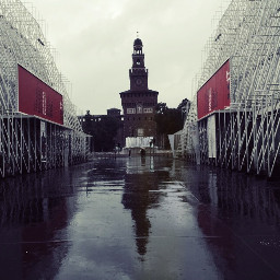 castellosforzesco milan milano 2016 rain