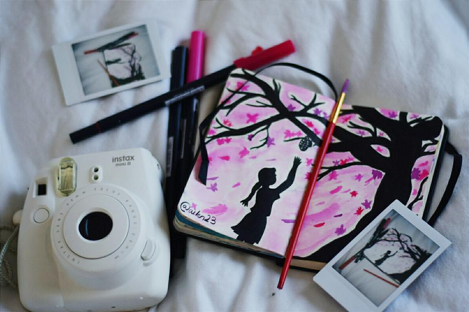 #creative #creativity #colorful #colorsplash  #drawing  #sakura  #highangle #war