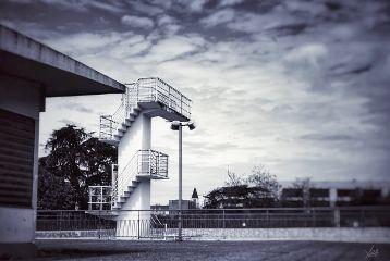 swimmingpool architecture divingboard photography blackandwhite